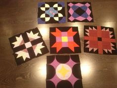 Diferentes bloques de patchwork para un quilt