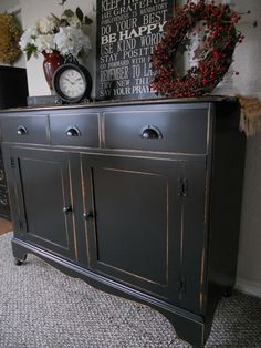 {createinspire}: Black Buffet from plain pine