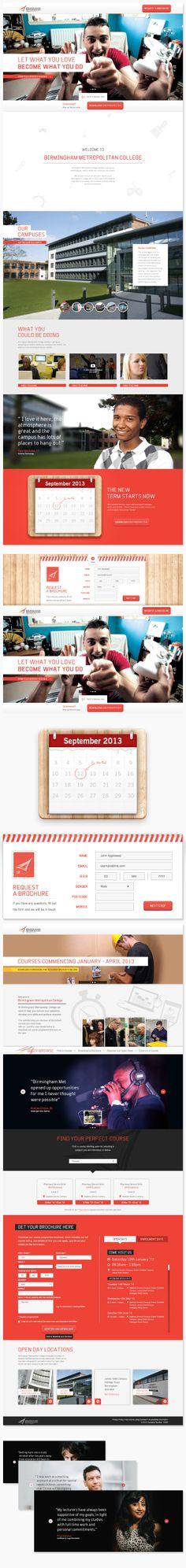 BMet College Microsites by Morgan Jones, via Behance - #webdesign