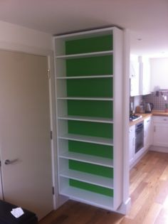 Hmmmmm lovely floating bookcase by Fine Balance Capentry.