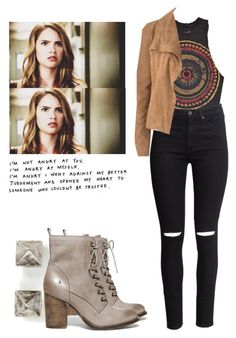 """Malia Tate - tw / teen wolf"" by shadyannon ❤ liked on Polyvore featuring Eddie Borgo, Steve Madden, Urban Outfitters, H&M and Amanda Wakeley"