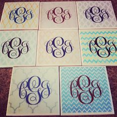 God, Grace, Grits: DIY Monogram Coasters