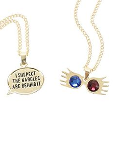 Harry Potter Luna Lovegood Spectrespecs Necklace Set