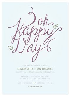 Beautiful, unique wedding invitation
