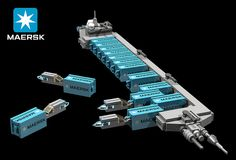 BRIX Micro Space MAERSK C2 Long Range Container Ship V1.0 Unloading | Flickr - Photo Sharing!