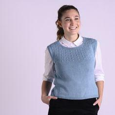 Ebba - Vest from Vest Pattern, Free Pattern, Knitting Patterns Free, Free Knitting, Sport Weight Yarn, Summer Knitting, Yarn Brands, Knit Vest, Knit Or Crochet