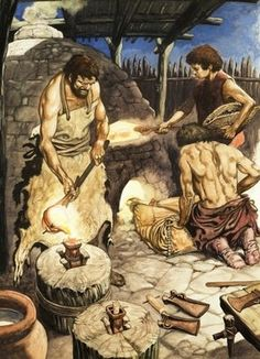 Work in the Bronze Age Wall Art & Canvas Prints by Peter Jackson