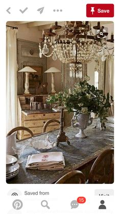 French Country Dining Room, French Country Kitchens, French Country Farmhouse, French Country Style, French Decor, French Country Decorating, Country Style Homes, Dining Room Design, Decoration