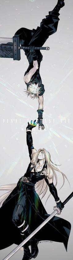 Final Fantasy Crisis Core, Arte Final Fantasy, Final Fantasy Cloud, Final Fantasy Artwork, Final Fantasy Characters, Fantasy Series, Cosplay League Of Legends, Ghost Pokemon, Fan Art
