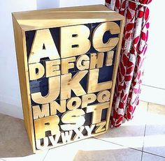 Wooden Chest of Alphabet Trinket Drawers Kids Cabinet Kids Bedroom Furniture