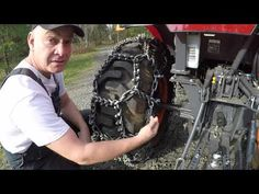#353 Aquiline Talon Tractor Tire Chains. Installation. Kubota LX2610 compact tractor. outdoors - YouTube Tractor Accessories, Tractor Tire, Compact Tractors, Kubota, Chains, Outdoors, Youtube, Outdoor, Tractor Supplies