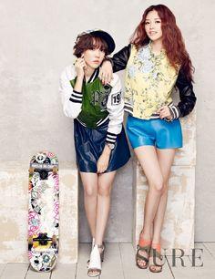 Rainbow Jae Kyung and Woo Ri - Sure Magazine April Issue '13