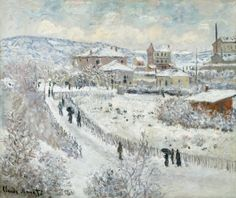 Claude Monet (French, 1840-1926), View of Argenteuil - Snow, 1874-75. Oil on canvas, 54.61 x 65.09 cm.