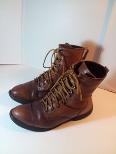 NICE! Men's Red Wing RedWing Work Boots Brown Leather- 13 E2 USA MADE  #RedWing #WorkSafety