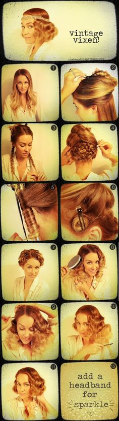 20's imitation bob! I'm so doing this for the Great Gatsby party my husband is taking me to :)