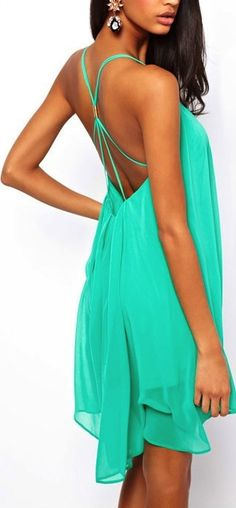 Teal chiffon cocktail dress! Great for summer and night out!