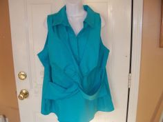 Lane Bryant Sea Blue Sleeveless Blouse Size 18/20 Women's NEW #LaneBryant #Blouse #Casual