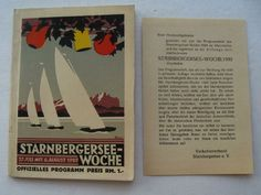 Starnbergersee-woche official Program (Boat Sailing Races Germany) August 1929