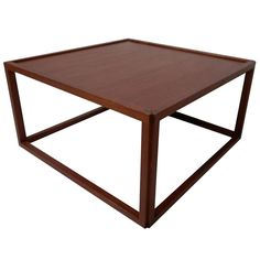 Rare Kai Kristiansen Inspired Cube Table | From a unique collection of antique and modern coffee and cocktail tables at http://www.1stdibs.com/furniture/tables/coffee-tables-cocktail-tables/
