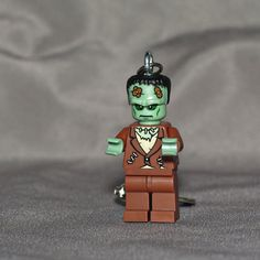 Frankenstein LEGO key chain by boxhounds on Etsy, $10.00