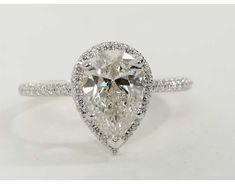 2.51 Carat Diamond Pear Shaped Halo Diamond Engagement Ring   Recently Purchased   Blue Nile #diamondengagement