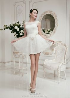 Fashion short wedding dress