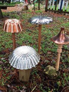 Funky Junky creative metal mushrooms