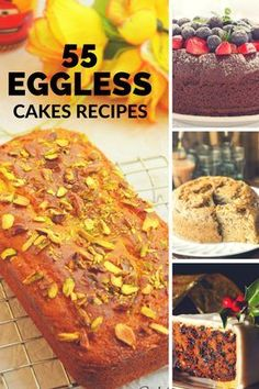55 Mouthwatering Eggless Cake Recipes That You Would Love To Try Eggless Desserts, Eggless Recipes, Eggless Baking, Vegan Desserts, Cake Recipes, Dessert Recipes, Eggless Muffins, Pastry Recipes, Tea Cakes