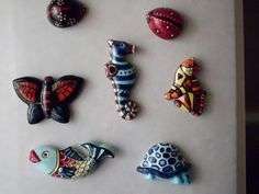 Ceramic magnets   handmade by Meral