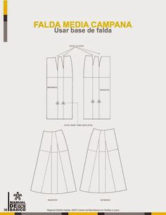 modelist kitapları: Manual-de-Patronaje-Basico-e-Interpretacion-de-Disenos Pattern Drafting Tutorials, Skirt Patterns Sewing, Sewing Doll Clothes, Sewing Dolls, Fashion Templates, Modelista, Pants Pattern, Fashion Sewing, Pattern Books