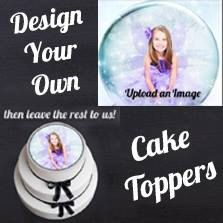 Custom Edible Cake Cupcake Topper Decoration Image  by CakersWorld