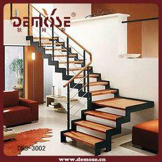 Elegant Steel Wood Staircase - Buy Staircase,Modern Staircase,Wood ...