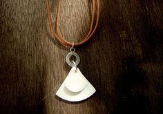 Simple Geometric Ceramic Jewelry  White porcelain by bininaor,