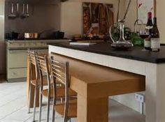 Table Escamotable Dans Meuble De Cuisine #1 - Ilot De Cuisine Table