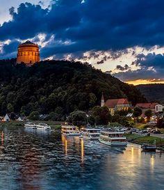 View of Liberation Hall near Danube river, Kelheim, Bavaria, Germany | by Harald Nachtmann  http://www.harald-nachtmann.de