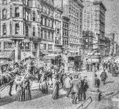 New York Street 1904 New York Street, City Photo, Abstract, Artwork, Work Of Art, Summary