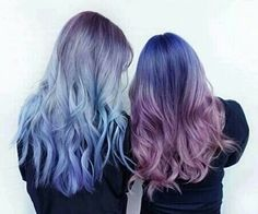 Imagem de hair, blue, and purple