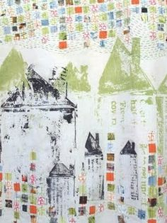 Beautiful work from Fiona Wilson, textile artist.