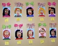 Mother's Day Portraits. The moms guess who created each portrait. #littlehandsbigplans