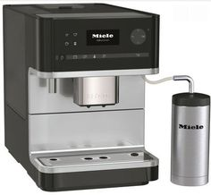 Miele's M6300 freestanding coffee maker Miele's M6300 freestanding coffee maker: This stylish freestanding coffee machine from Miele has a sleek chrome finish, and features a number of programmable user profiles that allow you to customise it to the exact coffee requirements of each member of your family.