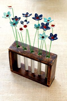 Upcycled Brown Wooden Planter Cottage Chic by WoodDecoration
