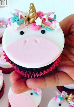 Cup cake de unicornio