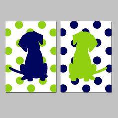 Hey, I found this really awesome Etsy listing at https://www.etsy.com/listing/175731215/polka-dot-puppy-dog-nursery-art-set-of