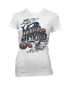 Lynyrd Skynyrd Red, White, Blue Logo Womens T-Shirt