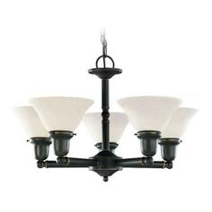 Sea Gull Lighting Sussex 5-Light Heirloom Bronze Single Tier Chandelier-39062BLE-782 at The Home Depot