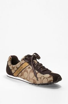 these coach sneakers are so cute! My feet need them! Coach Sneakers, Coach Shoes, Sneakers Fashion, Fashion Shoes, Coach Outfits, Sneaker Boots, Shoes Outlet, Coach Handbags, Leather Sneakers