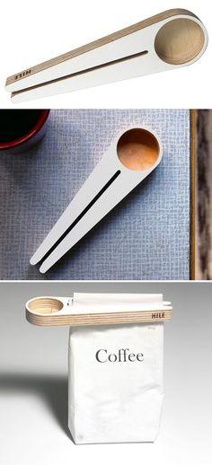 coffee clip & measuring spoon