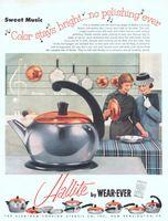 Wear-Ever Hallite Tea Pot 1956 Ad Picture