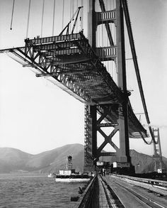 History of the Design and Construction of the Bridge: Hanging the Roadway Deck