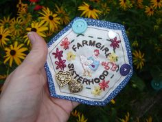 my MaryJanes farmgirl patch I embroidered
